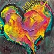 Abstract Heart Series Art Print