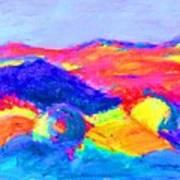 Abstract Hills Art Print