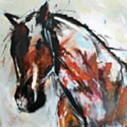 Abstract Horse 12 Art Print