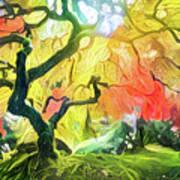Abstract Japanese Maple Tree 5 Art Print