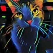 Abstract Kitty Art Print