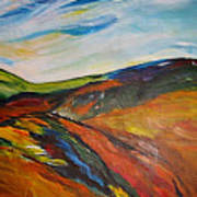 abstract landscape-Haloze Art Print