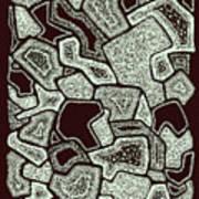 Abstract Landscape - Hand Drawn Pattern Art Print