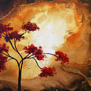 Abstract Landscape Painting Empty Nest 12 By Madart Art Print by Megan Duncanson