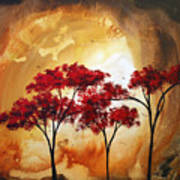 Abstract Landscape Painting Empty Nest 2 By Madart Art Print by Megan Duncanson