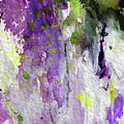 Abstract Lavender Cascades Art Print