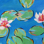 Abstract Lily Pads Art Print