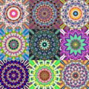 Abstract Mandala Collage Art Print