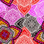Abstract Mandala Floral Design Art Print