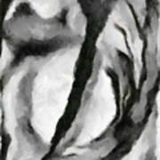 Abstract Monochome 154 Art Print