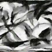 Abstract Monochome 156 Art Print