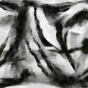 Abstract Monochome 158 Art Print