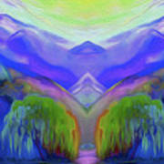 Abstract Mountains By Nixo Art Print