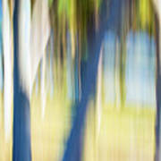 Abstract Moving Trees 30 Art Print