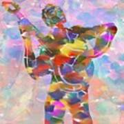 Abstract Musican Guitarist Art Print