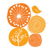 Abstract Nature Orange Art Print