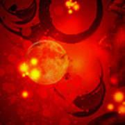 Abstract-nebula Art Print