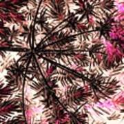 Abstract Of Low Growing Shrub  Art Print