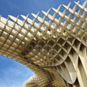 Abstract Of Metropol Parasol Pod At Plaza Of The Incarnation Sev Art Print