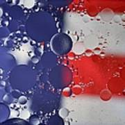Abstract Oil And Water Usa 2 Art Print