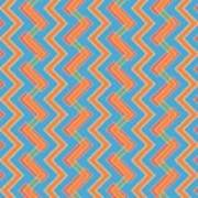 Abstract Orange, Red And Cyan Pattern For Home Decoration Art Print