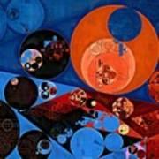 Abstract Painting - Dark Midnight Blue Art Print