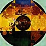 Abstract Painting - Gamboge Art Print