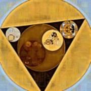 Abstract Painting - Satin Sheen Gold Art Print
