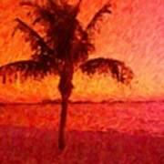 Abstract Palm Art Print