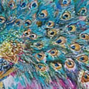 Abstract Peacock Art Print