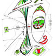 Abstract Pen Drawing Seventy-six Art Print