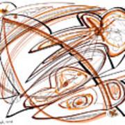 Abstract Pen Drawing Ten Art Print