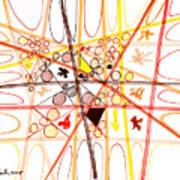 Abstract Pen Drawing Three Art Print