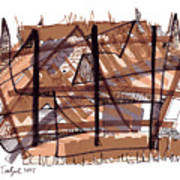 Abstract Pen Drawing Twelve Art Print