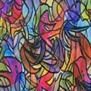 Abstract Pen Art Print