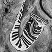 Piano Keys In A Saxophone 1 - Music In Motion Art Print