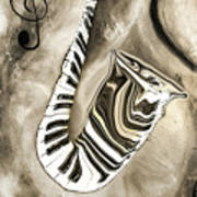 Piano Keys In A Saxophone 3 - Music In Motion Art Print