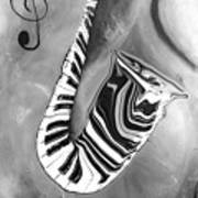 Piano Keys In A Saxophone 4 - Music In Motion Art Print