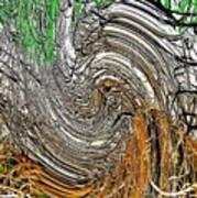 Abstract Reeds Art Print