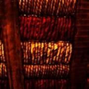 Abstract Ribbed Rows Art Print