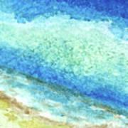 Abstract Seascape Beach Painting A1 Art Print