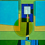 Abstract Shapes Color Two Print by Gary Grayson