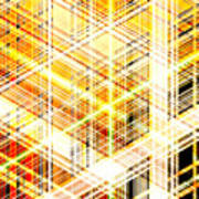 Abstract Shining Lines Art Print