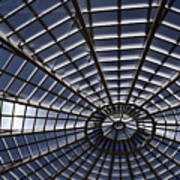Abstract Spiderweb View Of A Central Tower Skylight At The World Art Print