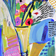 Abstract Still Life With Flowers Art Print