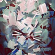 Abstract Stone Chaos Art Print