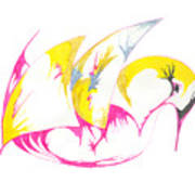 Abstract Swan Art Print