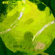 Abstract Tennis Ball Art Print by David G Paul