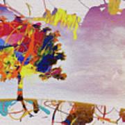 Abstract Tree 33w Art Print