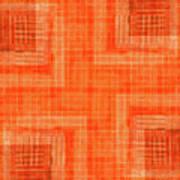Abstract Window On Orange Wall Art Print